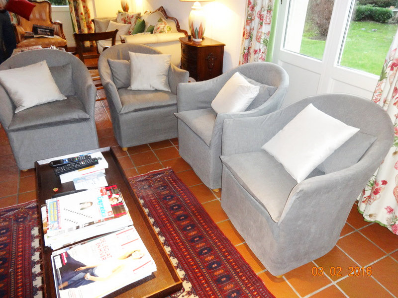 Confection de housses pour fauteuils